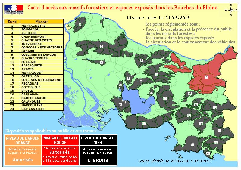 De nombreux accès aux massifs forestiers fermés