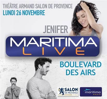 Le Maritima Live Jenifer et Boulevard des Airs