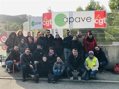 Châteauneuf-les-Martigues - Social - Le personnel d'Apave à Chateauneuf-les-Martigues est en grève - Maritima.info